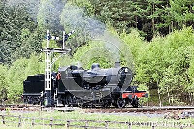 Steam train, England