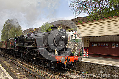 Steam train at Goathland station Editorial Image