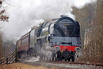 Steam train at speed Editorial Image