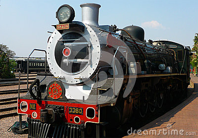 Steam  train about to depart from Capital Park Station in Pretoria  Pride of Africa train is  one of the World s Top 25 Trains Editorial Stock Photo