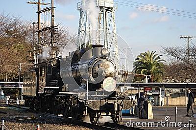 Steam train in Umekoji Steam Locomotive Musuem