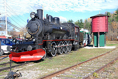 Steam train with water tank