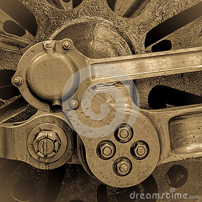 Free Steam Train Wheel Axle Royalty Free Stock Images - 35673369