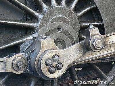 Steam Train Wheel Closeup Royalty Free Stock Photos