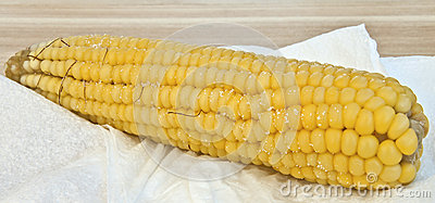 Steamed corn