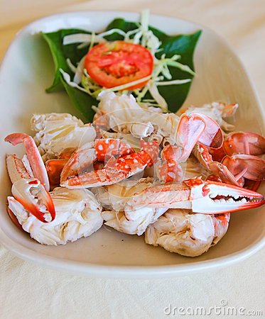 Steamed crab Thai food