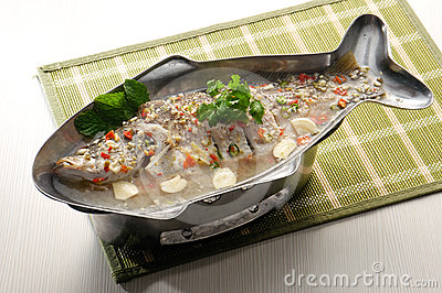 Steamed fish asia style