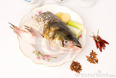 Steamed Fish Head ,Chinese food