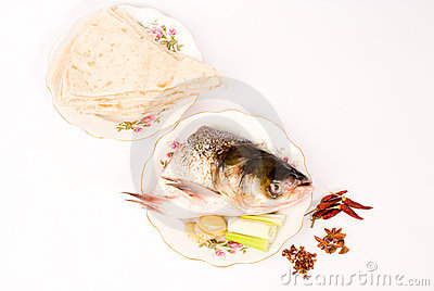 Steamed fish and pancake,Chinese food