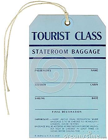 Steamer Baggage Tag - 1937