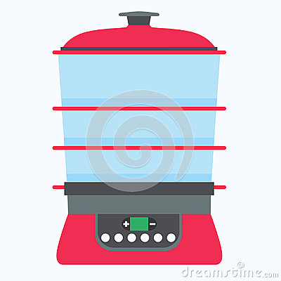 Free Steamer Food Vector Cook Cooking Kitchen Illustration Isolated Flat Symbol Equipment Electric Steam Stock Photos - 99193183