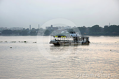 Steamer in river Ganga