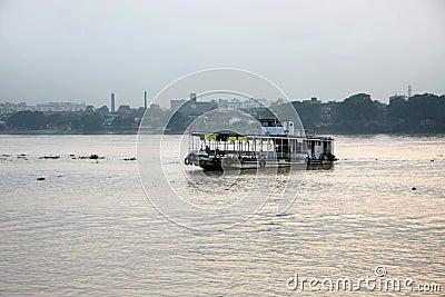 Steamer in river Ganga