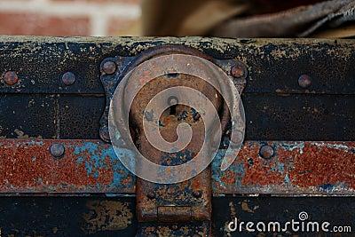 Steamer Trunk Hasp Shallow DOF