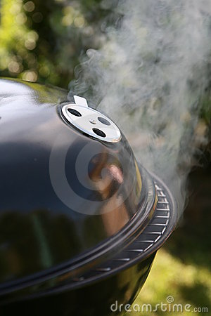 steaming barbecue