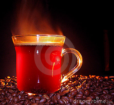 Free Steaming Coffee Stock Image - 112001