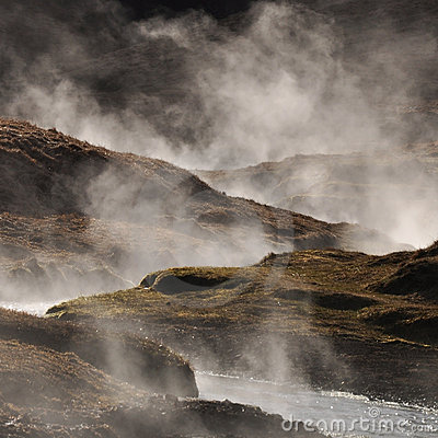 Free Steaming Geothermal Hot Water, Iceland Stock Image - 19109311