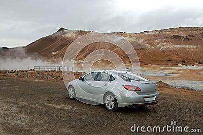 Steaming Mud Pot, Lake Myvatn, Iceland,