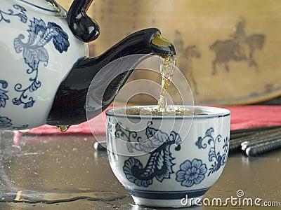 Steaming tea