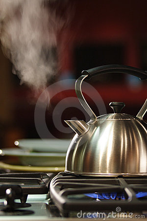 Free Steaming Tea Kettle Royalty Free Stock Photography - 1808577