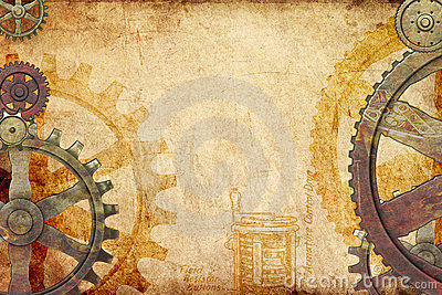 Steampunk Background Stock Images Image 10204494
