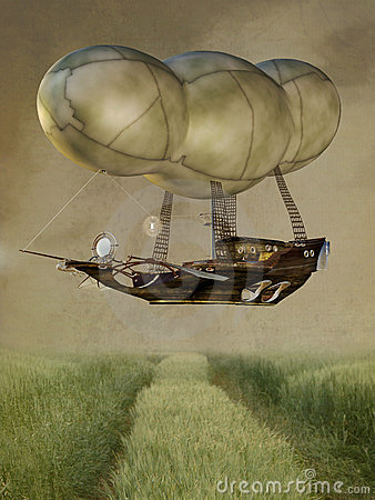 Free Steampunk Baloon Stock Photography - 20152842