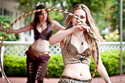 Steampunk Bellydancer Editorial Stock Image