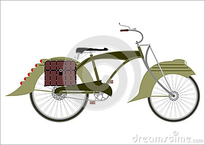 Steampunk bicycle silhouette
