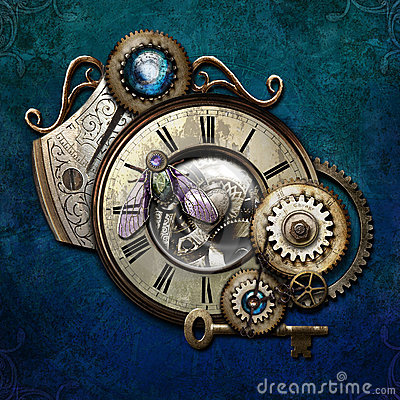 Steampunk on Blue