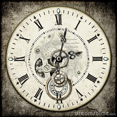 Free Steampunk Clock Stock Image - 19854871