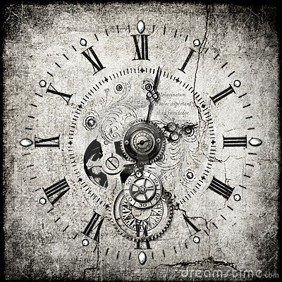 Steampunk Clock Stock Images Image 19854894