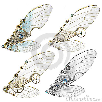 Free Steampunk Faerie Wings Stock Image - 39380781