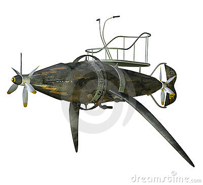 Free Steampunk Flying Machine 2 Royalty Free Stock Image - 15417396