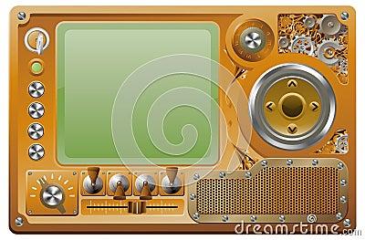 Steampunk grunge media player