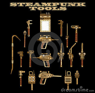 Free Steampunk Hand Tools Royalty Free Stock Photo - 23844335