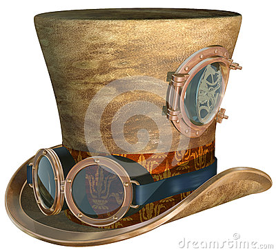 Free Steampunk Hat And Goggles Royalty Free Stock Photo - 27689505
