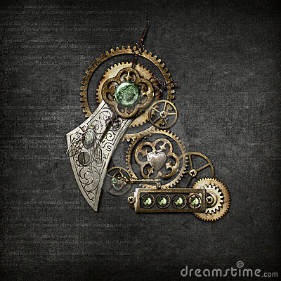 Free Steampunk On Grey Stock Photo - 18017440