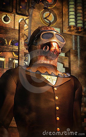 Steampunk time traveller