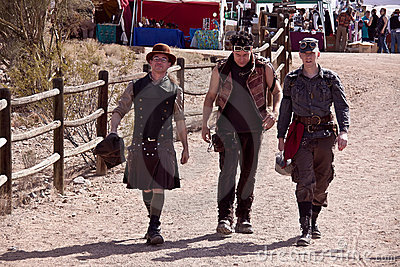 Steampunk Wild Wild West Con Editorial Image