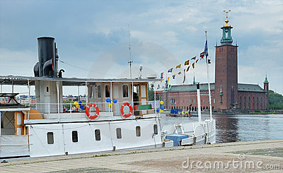 Steamship. Stock Photo