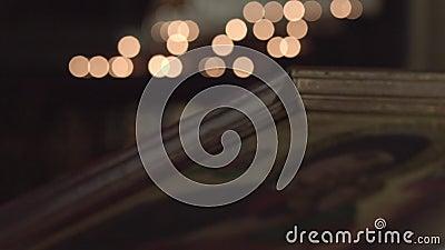 Stearinljus och symbol arkivfilmer