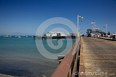 The Stearns Wharf in Santa Barbara