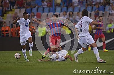 Steaua Bucharest - CFR Cluj Editorial Stock Photo