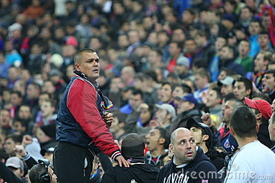 Steaua Bucharest - Rapid Bucharest Editorial Photo