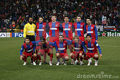 Steaua Bucharest squad Editorial Photography
