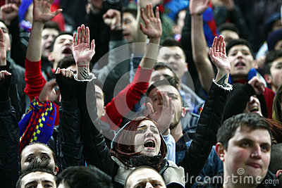 FC Steaua Bucharest- FC Gaz Metan Medias Editorial Photo