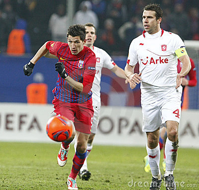 Steaua Bucharest- Twente Editorial Stock Photo