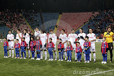 Steaua Bucharest vs Fiorentina Editorial Photo