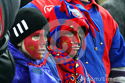 FC Steaua Bucharest- FC Gaz Metan Medias Editorial Photography