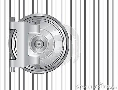 Steel bank door